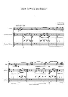Duet for Viola and Guitar: Duet for Viola and Guitar by Jordan Grigg