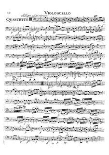 String Quartet No.16 in E Flat Major, K.428: Cello part by Wolfgang Amadeus Mozart