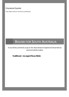 Bound for South Australia: For wind quintet by folklore