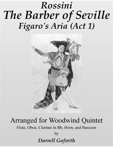 Il Barbiere di Siviglia (The Barber of Seville): Aria Figaro, for woodwind quintet by Gioacchino Rossini
