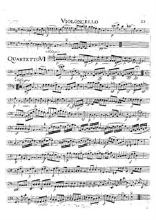 String Quartet No.19 in C Major 'Dissonance', K.465: Cello part by Wolfgang Amadeus Mozart