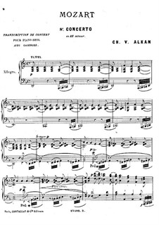 Concerto for Piano and Orchestra No.20 in D Minor, K.466: Movement I. Arrangement for piano by Wolfgang Amadeus Mozart
