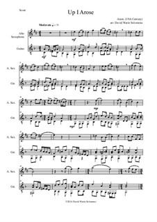 Up I Arose in Verno Tempore: For alto saxophone and guitar by Unknown (works before 1850)
