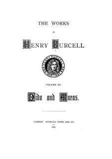 Complete Opera: Full score by Henry Purcell