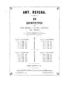 Woodwind Quintet in A Minor, Op.100 No.5: Oboe part by Anton Reicha