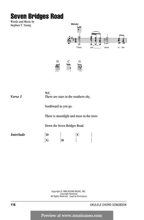 Seven Bridges Road (The Eagles): For ukulele by Stephen T. Young