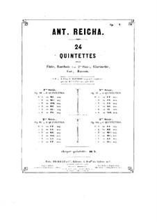 Woodwind Quintet in A Minor, Op.91 No.2: Flute part by Anton Reicha