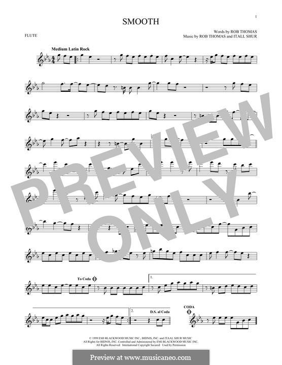 Smooth (Santana featuring Rob Thomas): For flute by Itaal Shur, Rob Thomas