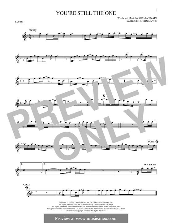 You're Still the One: For flute by Robert John Lange, Shania Twain