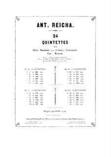 Woodwind Quintet in A Major, Op.91 No.5: Flute part by Anton Reicha