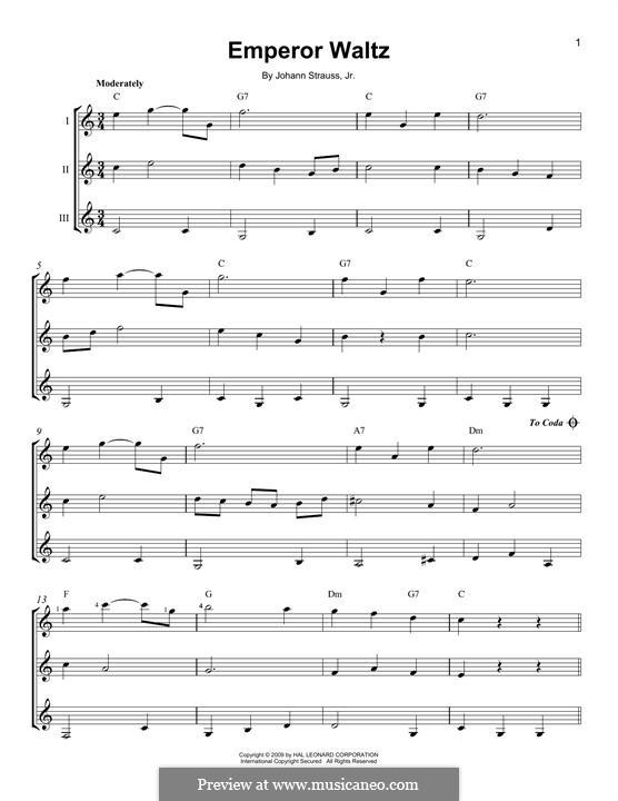 Emperor Waltz, Op.437: For any instrument by Johann Strauss (Sohn)