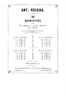 Woodwind Quintet in C Minor, Op.91 No.6: Oboe part by Anton Reicha