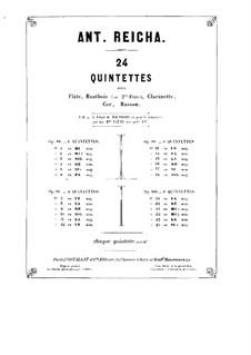 Woodwind Quintet in C Minor, Op.91 No.6: Clarinet part by Anton Reicha
