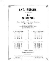 Woodwind Quintet in C Minor, Op.91 No.6: Bassoon part by Anton Reicha