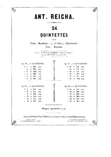 Woodwind Quintet in C Minor, Op.91 No.6: French horn part by Anton Reicha