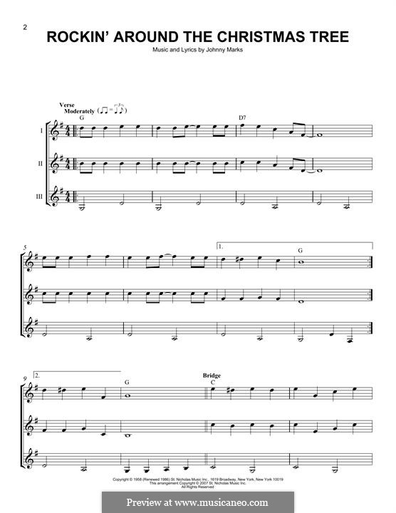 Rockin' Around the Christmas Tree: For any instrument by Johnny Marks