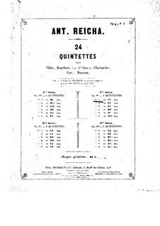 Woodwind Quintet in C Major, Op.99 No.1: Flute part by Anton Reicha