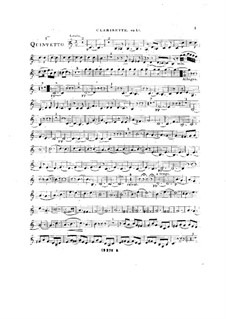 Woodwind Quintet in C Major, Op.99 No.1: Clarinet part by Anton Reicha
