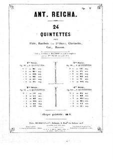 Woodwind Quintet in F Minor, Op.99 No.2: Parts by Anton Reicha