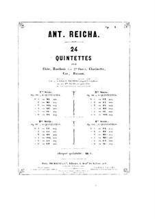 Woodwind Quintet in F Minor, Op.99 No.2: Flute part by Anton Reicha