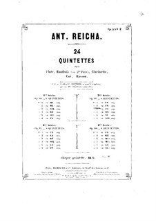Woodwind Quintet in F Minor, Op.99 No.2: French horn part by Anton Reicha
