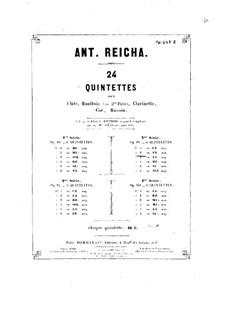 Woodwind Quintet in F Minor, Op.99 No.2: Clarinet part by Anton Reicha