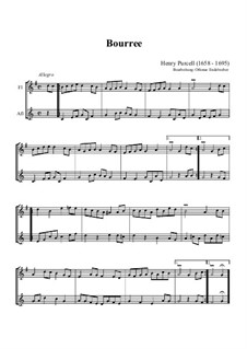 Bourrée in G-Dur: Bourrée in G-Dur by Henry Purcell