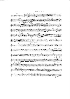 Woodwind Quintet in A Major, Op.99 No.3: French horn part by Anton Reicha
