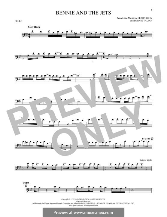 Bennie and the Jets: For cello by Elton John