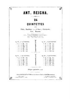 Woodwind Quintet in G Major, Op.99 No.6: Horn in G part by Anton Reicha
