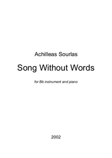 Song Without Words: Song Without Words by Achilleas Sourlas