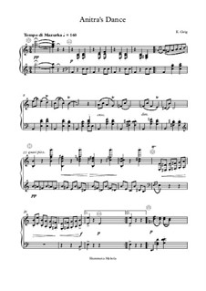 Suite No.1. Anitra's Dance, Op.46 No.3: For button accordion by Edvard Grieg