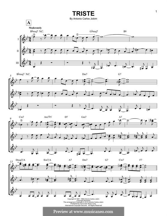 Triste: For any instrument by Antonio Carlos Jobim