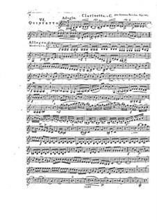 Woodwind Quintet in F Major, Op.88 No.6: Clarinet part by Anton Reicha