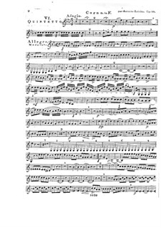 Woodwind Quintet in F Major, Op.88 No.6: French horn part by Anton Reicha