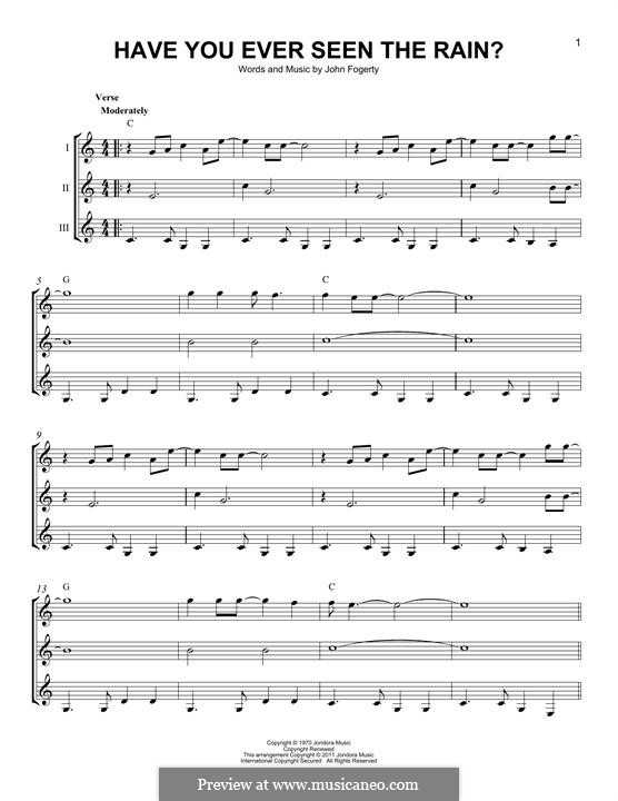 Have You Ever Seen the Rain? (Creedence Clearwater Revival): For any instrument by John C. Fogerty