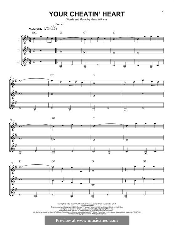 Your Cheatin Heart By H Williams Sheet Music On Musicaneo