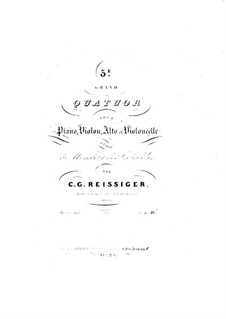 Piano Quartet No.5 in E Flat Major, Op.141: Piano part by Carl Gottlieb Reissiger