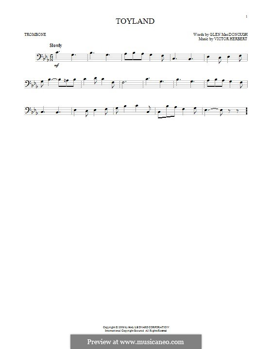 Babes in Toyland: Toyland, for trombone by Victor Herbert