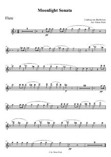Movement I: For flute by Ludwig van Beethoven