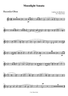 Movement I: For recorder by Ludwig van Beethoven