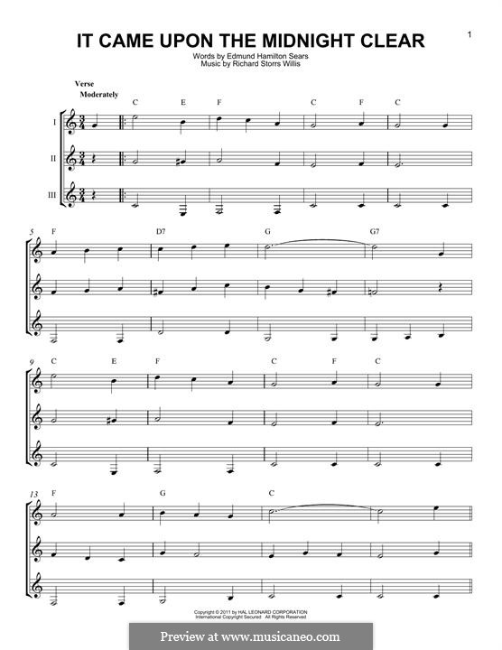 It Came upon the Midnight Clear: For any instrument by Richard Storrs Willis