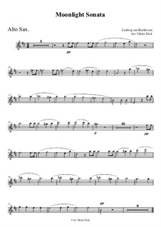 Movement I: For alto saxophone by Ludwig van Beethoven
