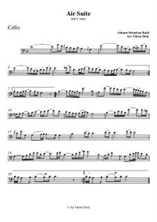 Aria: Version for cello by Johann Sebastian Bach