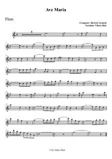 Ave Maria: For flute by Johann Sebastian Bach, Charles Gounod
