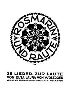Rosmarin und Raute: Rosmarin und Raute by Elsa Laura von Wolzogen