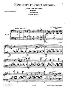 Christmas Eve. Opera: Piano-vocal score by Nikolai Rimsky-Korsakov