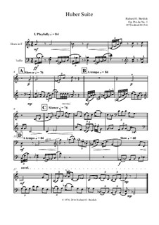 Huber Suite No.1 for Horn and violoncello, Pre-hu: Huber Suite No.1 for Horn and violoncello by Richard Burdick