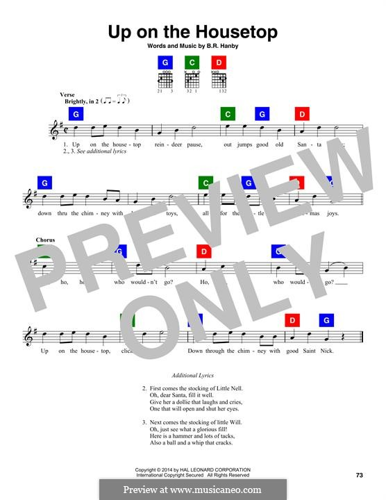Ukulele ukulele chords up on the housetop : Up on the House Top by B.R. Hanby - free download on MusicaNeo