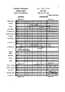The Golden Cockerel. Opera: Introduction by Nikolai Rimsky-Korsakov